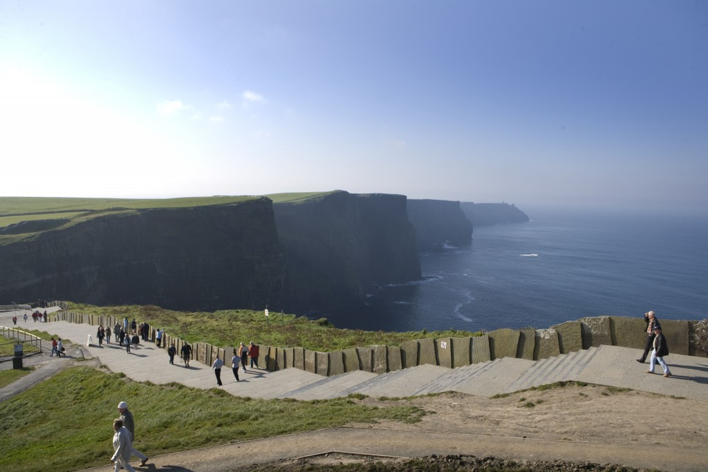 The Cliffs of Moher walkway